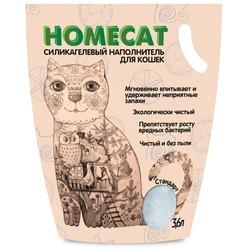 Homecat Силикагелевый наполнитель для кошачьих туалетов Стандарт