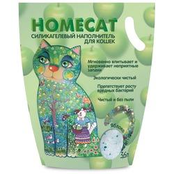 Homecat Силикагелевый наполнитель для кошачьих туалетов с ароматом яблока