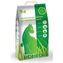 Homecat Древесный наполнитель для кошачьего туалета Мелкие гранулы