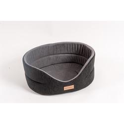 Katsu Лежак для животных Suedine искусственная замша черно-серый