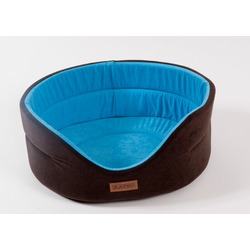 Katsu Лежак для животных Suedine искусственная замша коричневый/голубой