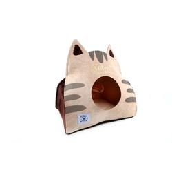 Katsu Домик поролоновый для котят и кошек Царство Морфея бежевый