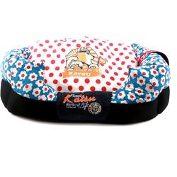 Katsu Лежак - диван Цветочное счастье для собак и кошек синий