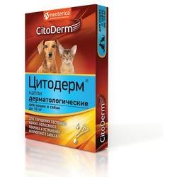 CitoDerm Капли дерматологические для кошек и собак до 10кг