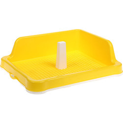 №1 Туалет для собак со столбиком с угловым бортом, пластик