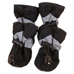 ForMyDogs Обувь для мелких собак на нескользящей подошве Черные
