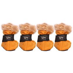 Lion Зимние сапоги для собак на липучке Оранжевые