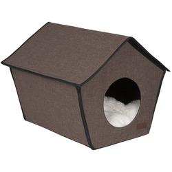 Lion Домик будка каркасный для собак и кошек Монако коричневый