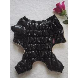 Smartpet Теплый комбинезон для маленьких собак на меху Дутик черный, унисекс
