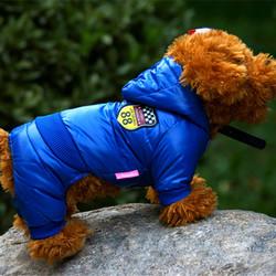 Smartpet Теплый комбинезон для маленьких собак Трасса 88 синий, унисекс