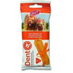 TiTBiT Жевательный снек DENT для мелких собак со вкусом сыра