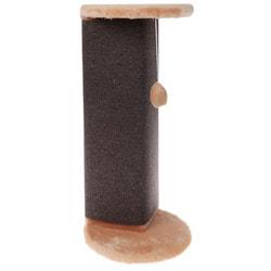 Smartpet Когтеточка угловая с игрушкой для кошек, 34х34х74см
