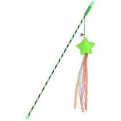 Smartpet Игрушка для кошек Дразнилка с перьями, бубенчиком и 4-мя хвостиками
