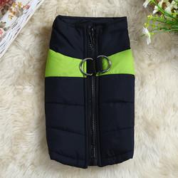 4 My Pets Куртка для маленьких собак утепленная черно-салатовая