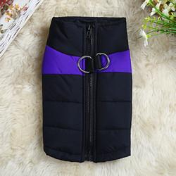 4 My Pets Куртка для маленьких собак утепленная черно-фиолетовая