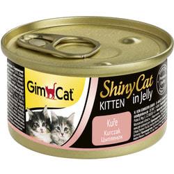 Консервы Gimpet ShinyCat для котят из цыпленка в желе