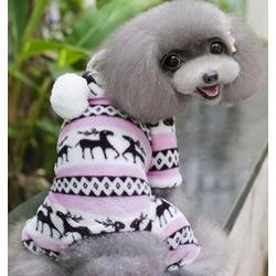 4 My Pets Флисовый костюм для маленьких собак Скандинавия розовый