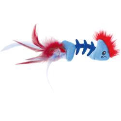 Petstages Игрушка для кошек Play Fish Bone голубая