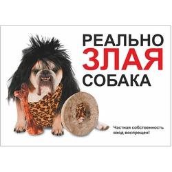 Дарэлл Табличка Реально злая собака