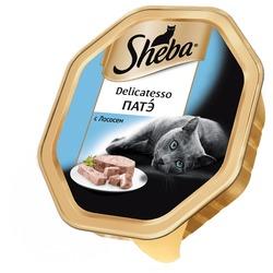 Sheba Консервы для кошек Delicatesso патэ с Лососем