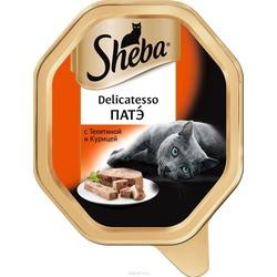 Sheba Консервы для кошек Delicatesso патэ Телятина с Курицей