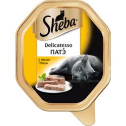 Sheba Консервы для кошек Delicatesso патэ с Птицей