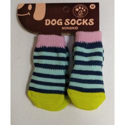 Антицарапки Носки для мелких собак в полоску