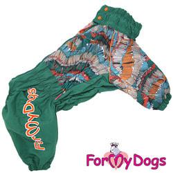 ForMyDogs Дождевик для больших собак фиолетовый, мальчик
