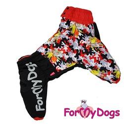 """ForMyDogs Дождевик для больших собак """"Хаки весенний"""", девочка"""