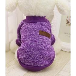4 My Pets Теплый свитер для маленьких собак Classic на флисе фиолетовый