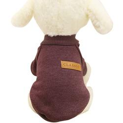 4 My Pets Теплый свитер для маленьких собак Classic на флисе коричневый