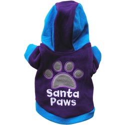 4 My Pets Толстовка для маленьких собак из флиса Santa Paws