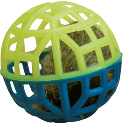 """Зооник Игрушка """"Погремушка"""" для кошки сетчатая с мехом и колокольчиком"""