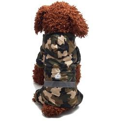4 My Pets Дождевик для мелких пород собак с капюшоном Хаки