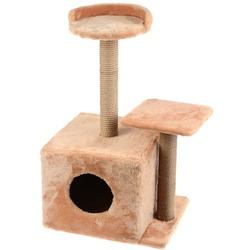 Smartpet Домик для кошек с когтеточками и полочкой-лежанкой 35х45х75см
