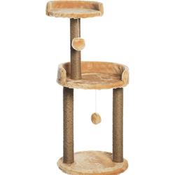 Smartpet Когтеточка с круглой площадкой и игрушкой 43х43х100см