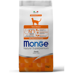 Monge Cat Sterilised Duck корм для стерилизованных кошек с уткой