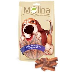 Molina Лакомство для собак Стейк из ягненка и курицы