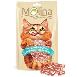 Molina Лакомство для кошек Куриный сэндвич с сырными шариками
