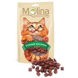 Molina Лакомство для кошек Утиные кусочки