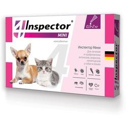 Inspector Капли Мини для кошек и собак 0,5-2кг от внешних и внутренних паразитов