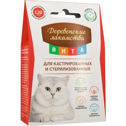 Деревенские лакомства ВИТА Витаминизированное лакомство для кастрированных и стерилизованных кошек