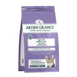 Arden Grange Adult Light корм беззерновой для кошек склонных к полноте с Курицей и картофелем