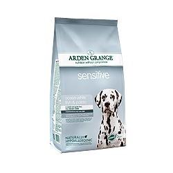 Arden Grange Adult Sensitive сухой корм для собак с деликатным желудком и/или чувствительной кожей с Океанической белой рыбой и картофелем