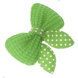 ForMyDogs Бантик-заколка для волос собак текстильный зеленый