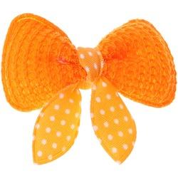 ForMyDogs Бантик-заколка для волос собак текстильный оранжевый