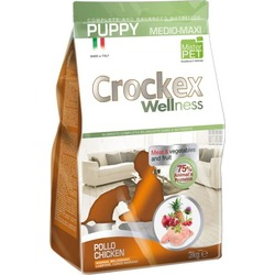 Crockex Wellness Сухой корм для щенков средних и крупных пород курица с рисом