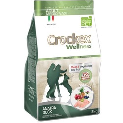 Crockex Wellness сухой корм для собак средних и крупных пород утка с рисом