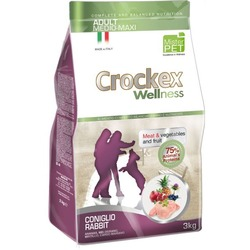 Crockex Wellness Сухой корм для собак средних и крупных пород кролик с рисом