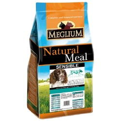 Meglium Сухой корм для взрослых собак SENSIBLE с чувствительным пищеварением ягненок рис